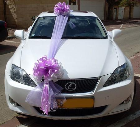 تزيين سيارة العريس في الفرح (2)