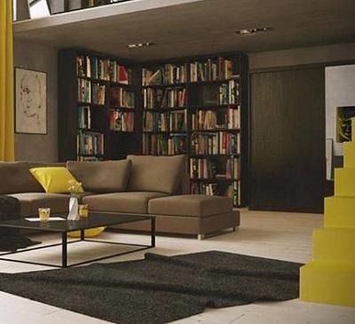 صور مكتبات مودرن للكتب في المنزل (1)