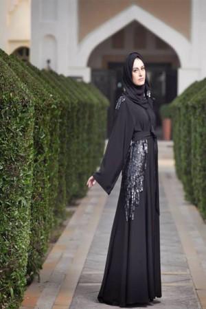 عبايات بنات محجبات خليجية 2016 (1)