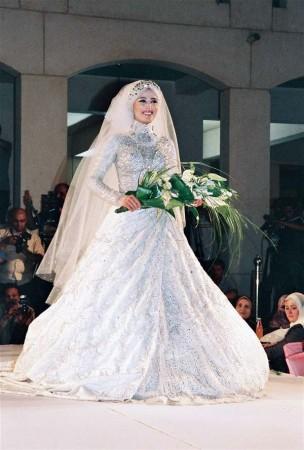 فساتين عروس محجبات2016 (1)