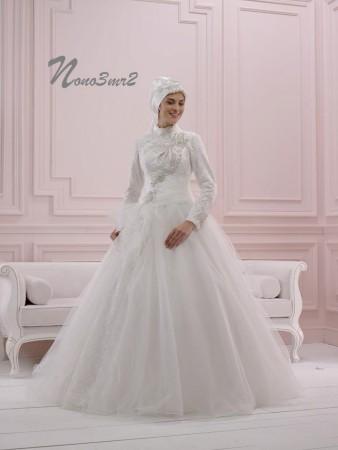 cdfa3a7cd فساتين فرح محجبات 2016 احدث فساتين زفاف المحجبات | ميكساتك