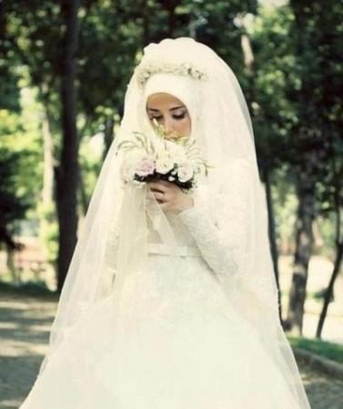فساتين فرح محجبات 2016 احدث فساتين زفاف المحجبات (1)