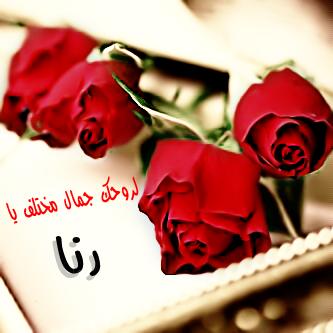 اسم رنا مكتوب علي صور (1)