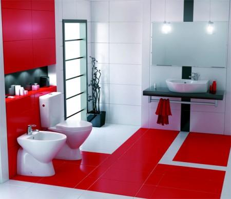 حمامات باللون الاحمر 3