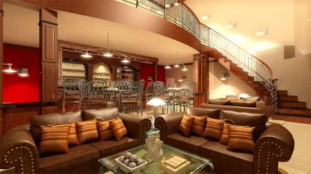 تصميمات منازل من الداخل بديكورات جديدة (1)