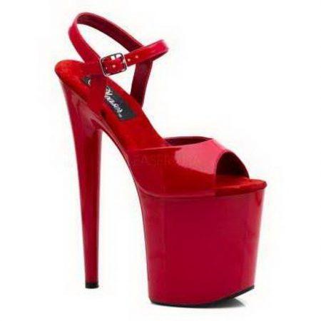 احذية كعب باللون الاحمر للبنات (1)