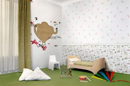احدث ورق حاط غرف اطفال جميلة (3)