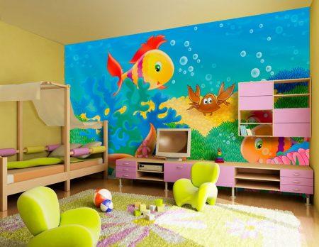 اوراق حائط غرف اطفال (4)