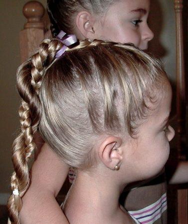 تسريحات شعر جديده للبنات والاطفال (2)