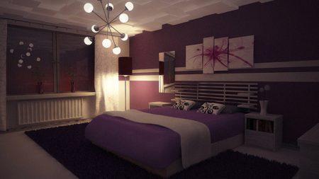 صور غرف نوم بنفسجيه (3)