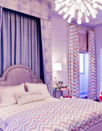غرف جميلة بنفسجي للنوم (1)
