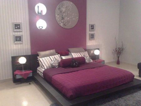 لون غرف نوم بنفسجي (1)
