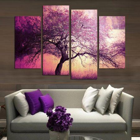 لون غرف نوم بنفسجي (3)