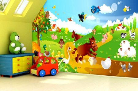 ورق جدران لغرفة الاطفال 2016 (3)