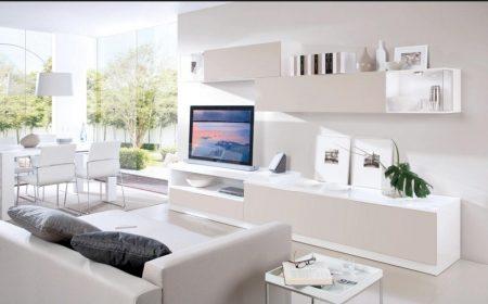 ديكورات تلفزيونات على الحائط  (1)