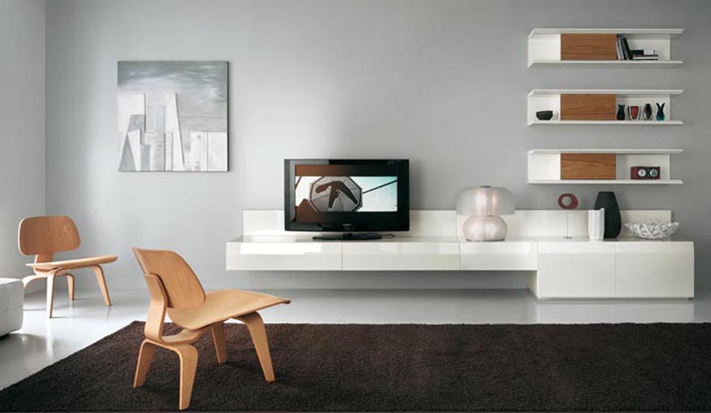 صور ديكورات تلفزيون جبس وخشب احدث ديكور شاشات ميكساتك