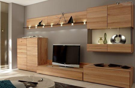 ديكور خشب تلفزيون (2)