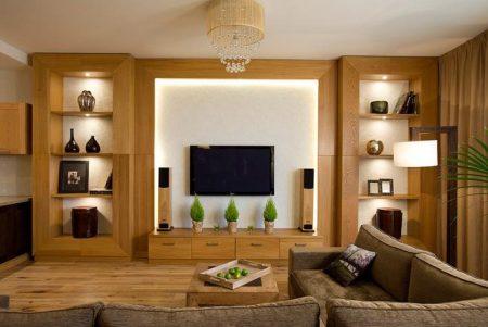ديكور خشب تلفزيون (5)