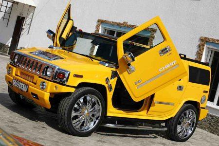 صور سيارات همر صفراء (1)