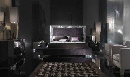 صور غرف نوم جديدة مودرن اسود (1)