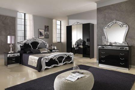 صور غرف نوم سوداء ديكورات غرف عرسان باللون الأسود (2)