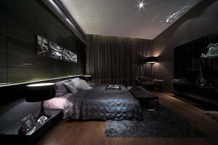 صور غرف نوم سوداء ديكورات غرف عرسان باللون الأسود (3)