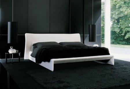 صور غرف نوم سوداء ديكورات غرف عرسان باللون الأسود (4)