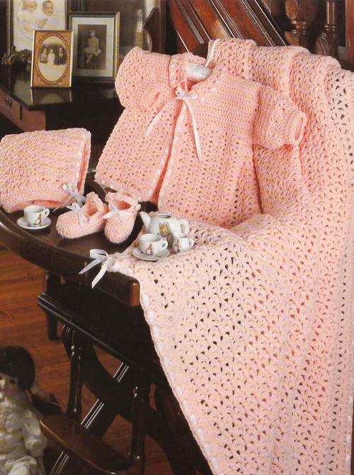 صور فساتين وملابس كروشية اطفال جديدة وشيك (3)