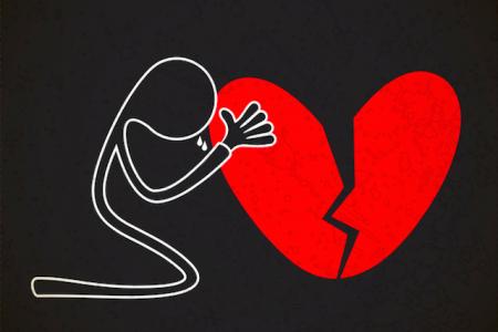 صور قلوب مجروحة وحزينة قلوب حب حمراء  (1)