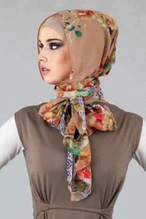طرق لف الحجاب شيفون (1)