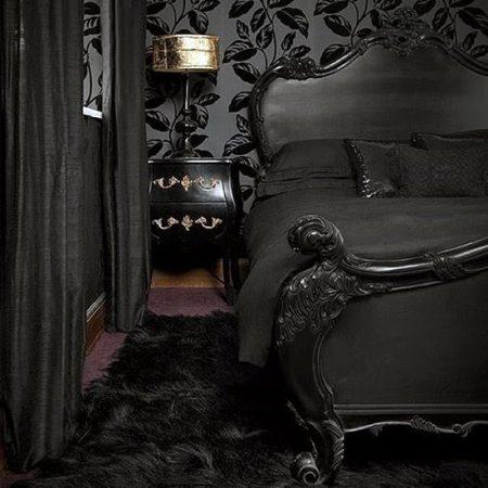 غرف نوم باللون الاسود (2)
