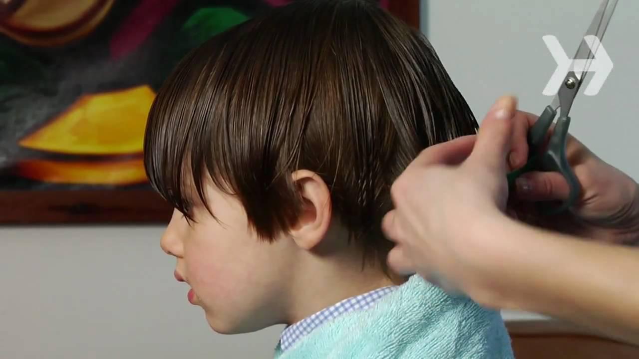Bob haircut with ears cut out