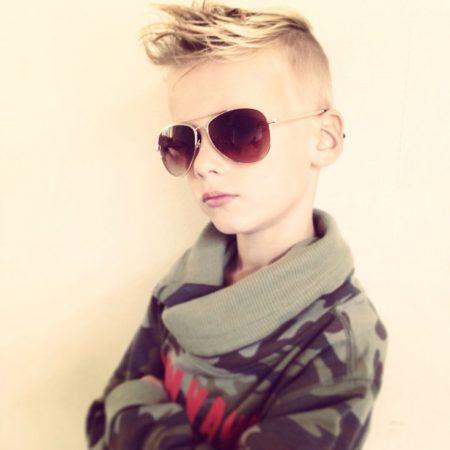 قصات شعر جديدة للأولاد (2)