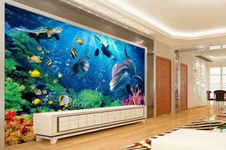 ورق جدران ثلاثي الابعاد 3D بديكورات وتصميمات مودرن (4)