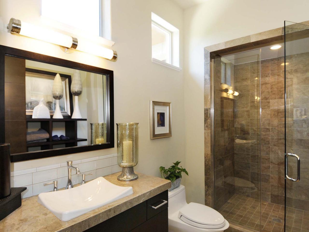 Modern Small Guest Bathroom Ideas :
