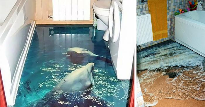 صور حمامات 3d بديكورات مودرن ثلاثية الأبعاد ميكساتك