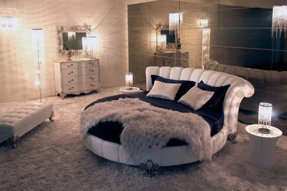 صور غرف نوم سرير دائري حديث مودرن فخم | ميكساتك