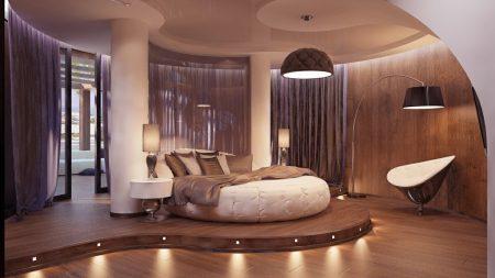سرير غرف نوم دائرية