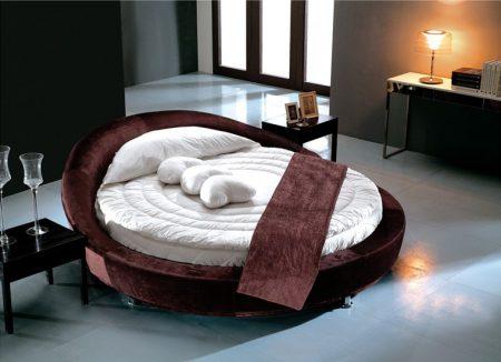 سرير فخم مودرن دائري (2)