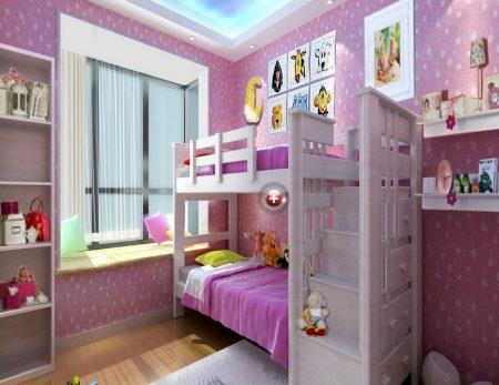 صور سرير اطفال دورين مودرن بديكورات غرف اطفال (1)