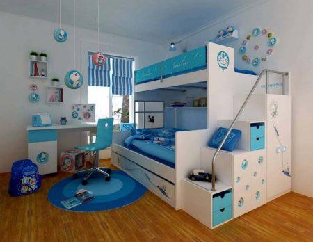 صور سرير اطفال دورين مودرن بديكورات غرف اطفال (4)