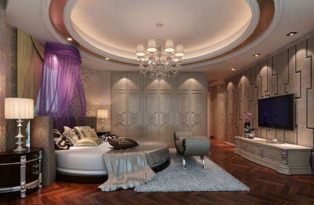 صور غرف نوم سرير دائري حديث مودرن فخم (2)