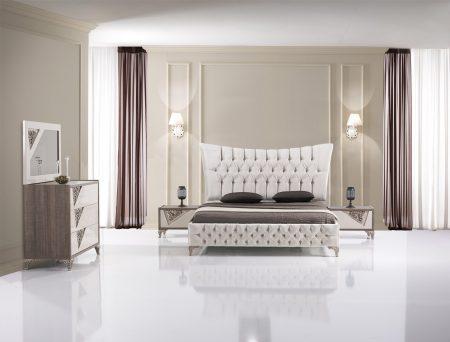 غرف نوم تركية كاملة بديكورات فخمة لغرف العرسان (2)