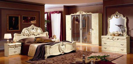 غرف نوم كلاسيك بديكورات فخمة لعشاق الكلاسيكيه (1)
