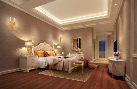 غرف نوم كلاسيك بديكورات فخمة لعشاق الكلاسيكيه (3)
