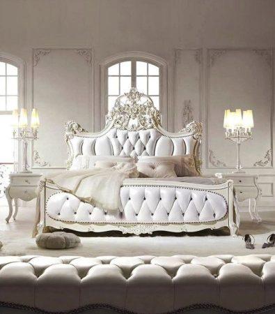غرف نوم كلاسيك بديكورات فخمة لعشاق الكلاسيكيه (4)