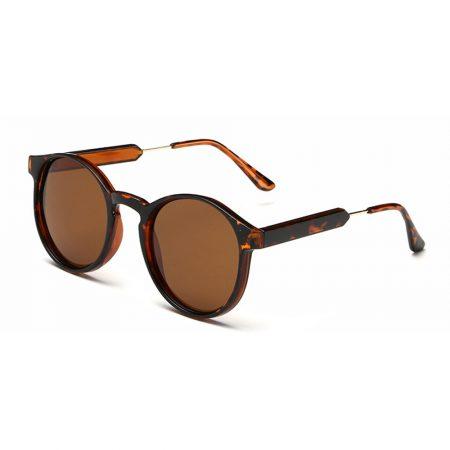2016 Vintage Retro Circle Round Polarized Sunglasses For Women PC Frame Colorful Coating Mirror Lens Brand