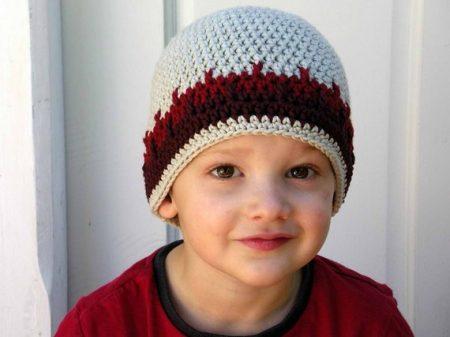 اشكال طواقي كروشية اطفال (4)