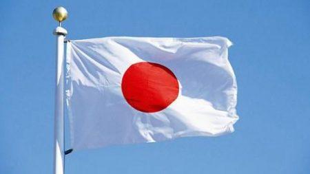 اليابان علم ابيض واحمر (3)
