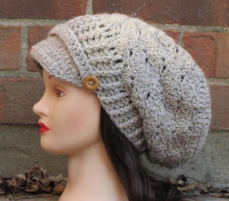 قبعة كروشية جميلة (4)